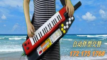 海滨之歌-肩背合成器电子琴SHS500雅马哈加自动伴奏器