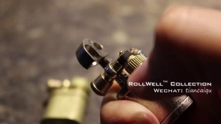 老式迷你袖珍Vintage复古EDC小玩意儿工具黄铜抬臂侧错轮煤油打火机使用方法及评测