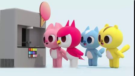 迷你特工队动画:露西吃冰淇淋,其他人也想吃冰淇淋.