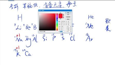八上,2,6表示物质的符号,元素周期律与化合价、相对原子质量的记忆方法,课程6