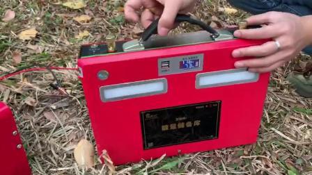 新款豪门盛世双灯户外锂电池三元聚合物锂电瓶蓄电大容量便携式主图短视频