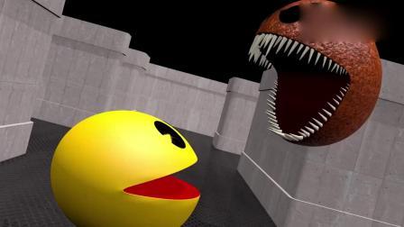 趣味吃豆人游戏:大理石吃豆人vs怪物吃豆人