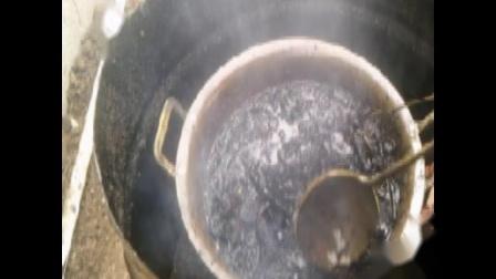 淄博中医黑膏药爱好者在诸城学习炼油下丹全过程