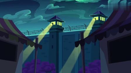 搞笑动画:小兔子和哈利想方设法,深夜爬墙,还是被发现