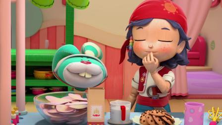 彩虹宝宝:原来是饼干和薯片一起吃才会飘起来