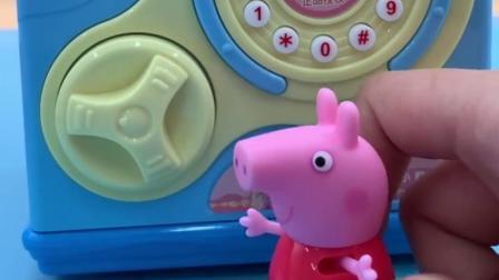 小猪佩奇平时不花钱,都攒着放在存钱罐里,给猪爸爸买生日蛋糕