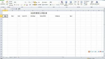 兰陵县新华电脑学校2020普查统计表制作.avi
