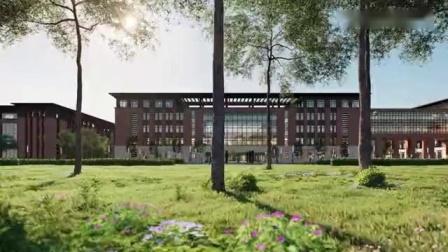 山西忻州师范学院新校区全景鸟瞰