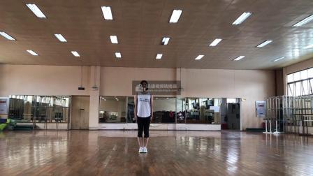 广西大学健美操课程翻转课堂动作组合4(小马跳)-正面示范-音乐