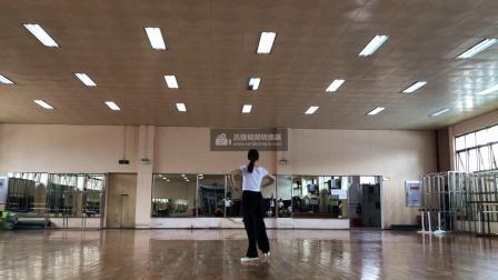 广西大学健美操课程翻转课堂动作组合2(侧滑步)-背面示范-音乐
