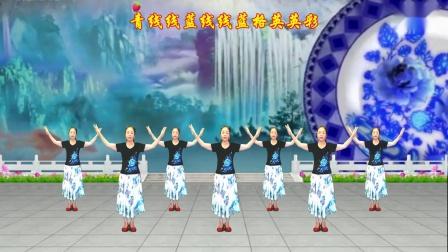 龙门红叶广场舞【蓝花花我的姐姐】优美中三步-编舞【雪妹舞翩翩】