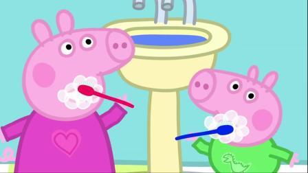 小猪佩奇:为了让佩奇和乔治睡觉,猪爸爸忙里忙外,真是太辛苦了