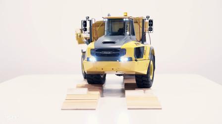 镭速AT60H铰接式自卸卡车模型 液压 遥控 全金属 功能演示