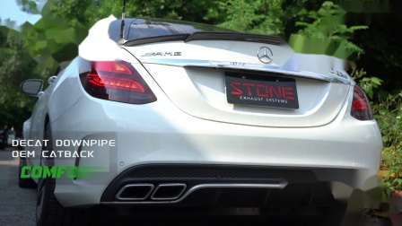 Mercedes AMG W205 M177 C63s / Stone Cat-less Downpipe