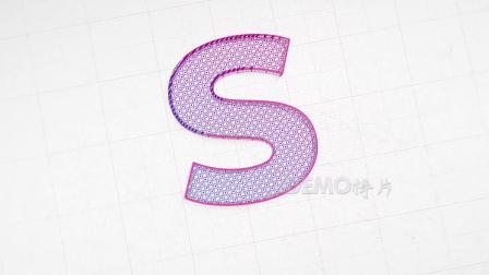 z371 震撼大气线条描边素描生成三维标志公司Logo演绎片头开场视频ae模板
