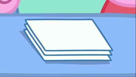 小猪佩奇:苏怡跟着爸爸送信,收到了好多信,真是太棒了!
