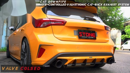 Ford Focus ST 2.3t / Stone Cat-less Turbo-back Exhaust System