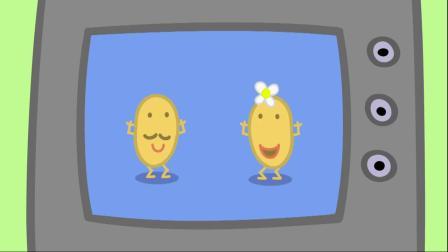 小猪佩奇:佩奇真是童言无忌,说猪爸爸的肚子有点大,太搞笑了!