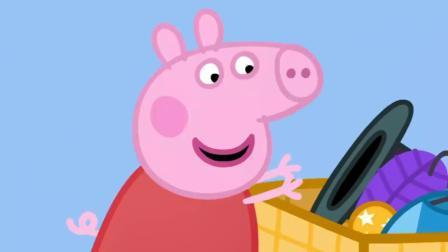 小猪佩奇:佩奇真是想法多,要在猪奶奶的花园派对上,表演马戏!