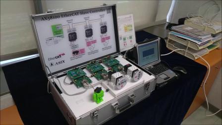 AX58100 EtherCAT从站控制芯片(无外部微控制器) 典型应用演示
