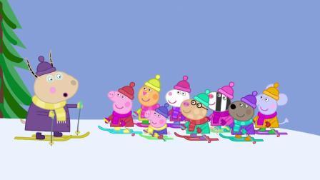 小猪佩奇:猪爸爸想开车去雪山,但这太难了,完全没办法开上去!