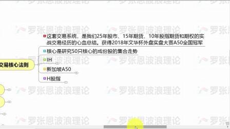 IH,IF,IC,股指期货实盘视频,罗张恩波段交易战法