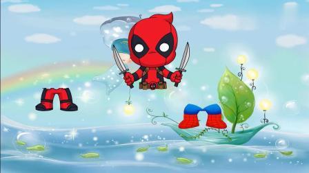 蜘蛛侠和卡通形象找到正确的腿部!