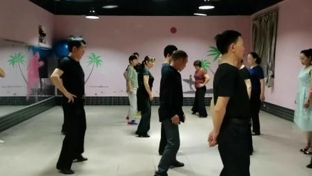 课堂分解(慢三舞)的基本方形步和大方形步