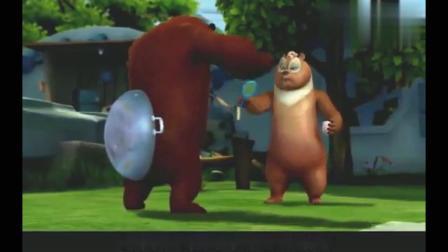 熊出没:熊二玩转盘的游戏,熊大作弊,磁铁真厉害.