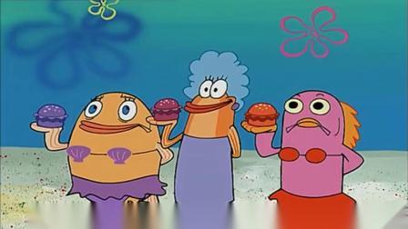 海绵宝宝:海绵宝宝的汉堡,大受群众欢迎,钱多到装桶送给别人