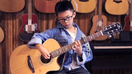孝义市云沐琴行 学员王奕程 吉他演奏 《卖报歌》