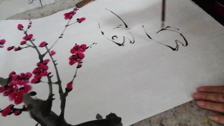 浪漫主义意象画派创始人张炳瑞香画苏轼诗意桃花流水鳜鱼肥