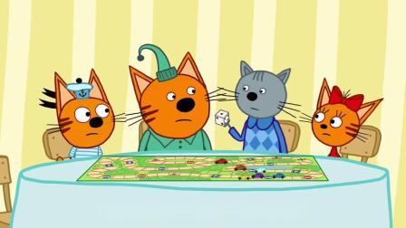 咪好一家:波里斯来找小猫咪们玩游戏,他们都放下了争执一起开心的玩