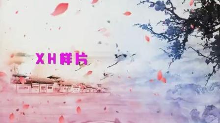 B855踏春古典古风水墨中国风汉服舞蹈配乐成品led大屏幕背景视频素材