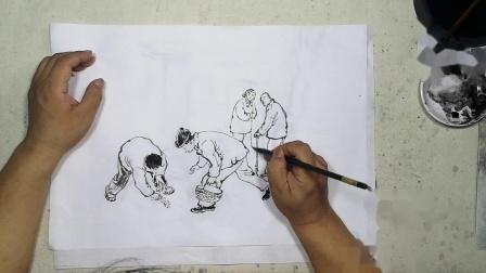 百集听故事学国画《北京往事》第3集、副食店前捡菜叶