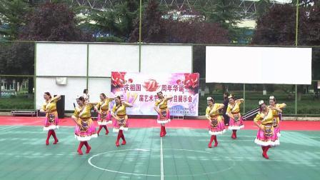 (18)宝太家园木兰活动站广场舞《蓝色天梦》2020.09.22 地点 市体育馆