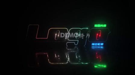 1263 震撼大气炫酷光线闪电描边轮廓霓虹灯公司logo演绎片头AE模板 视频制作 ae片头 ae教程
