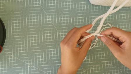 大蝴蝶结挎包毛线