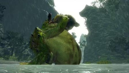"""【游民星空】《怪物猎人:崛起》""""河童蛙大战青熊怪"""""""