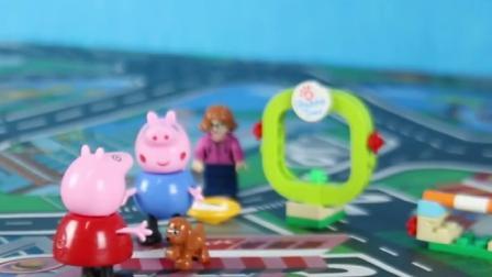儿童玩具:乔治到处乱跑,佩奇很担心