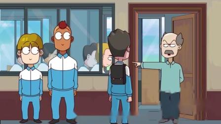 开心锤锤:学生上课迟到效仿鲁迅刻下座右铭,却惨遭老师毒打!