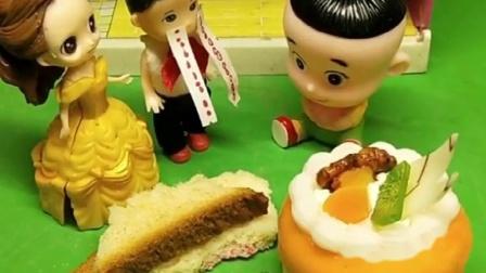 小男孩偷吃大头蛋糕,大头说小男孩被贝尔教育,看把贝尔气的!