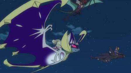 神奇宝贝:露奈雅拉一个闪现,躲到黑暗神兽背后