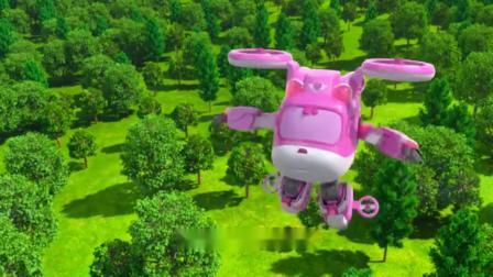 超级飞侠:复活岛石像飞走了,乐迪和小爱用超级装备抓住它们