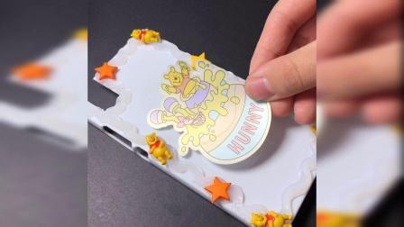 小熊维尼~童年的回忆,做个手机壳吧