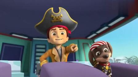 天真的毛毛还不明状况,居然被海盗勾走了,实在是个小可怜!