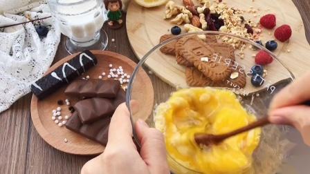 无糖,无需打发的布朗尼蛋糕,浓浓的巧克力香蕉味