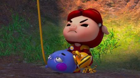猪猪侠:重力星人可真重,猪猪侠坐着泡泡停在半空,动也不动!