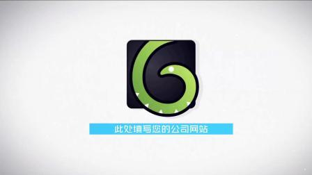 1164 简约明亮大气图形运动MG动画企业公司logo演绎片头ae模板