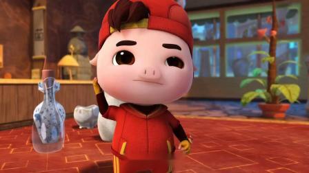 猪猪侠:焦滴滴遇上狗仔了,猪妈妈却出来帮忙,猪妈妈太酷了!